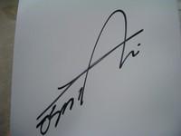 新井さんのサイン
