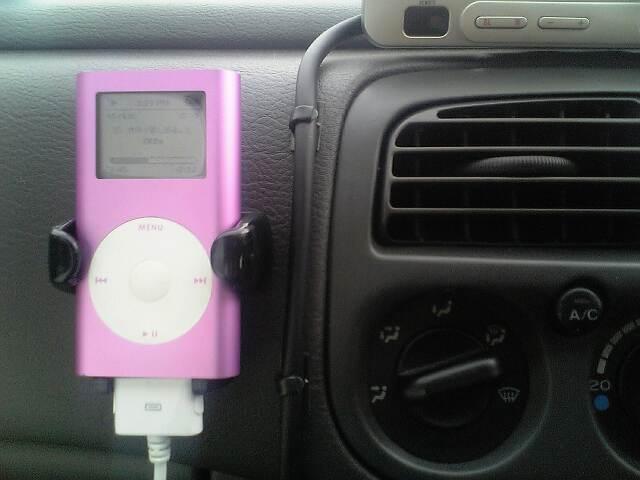 iPod mini&携帯ホルダー設置
