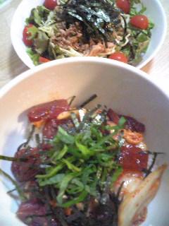 【ご飯】マグロキムチ丼